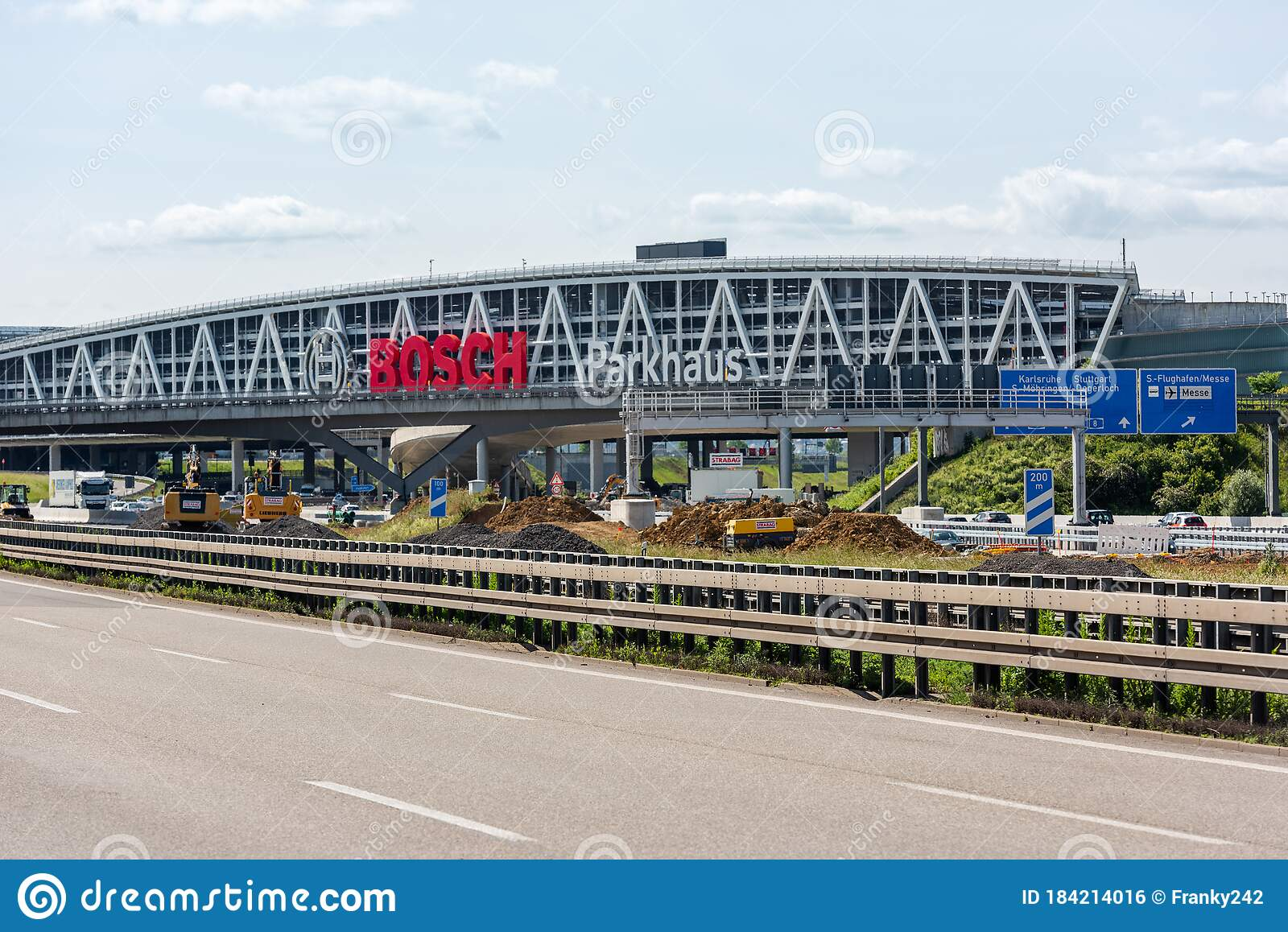 Huge Bosch Letters at the Stuttgart Airport Parking Garage with ...