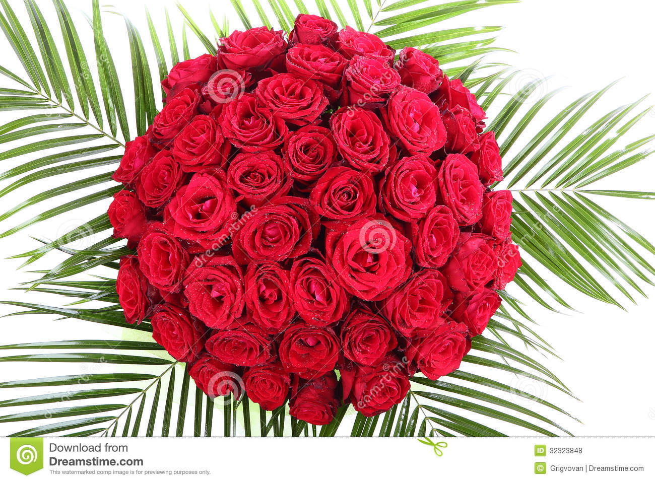 A Huge Bouquet Of Red Roses. The Isolated Image On Royalty ...