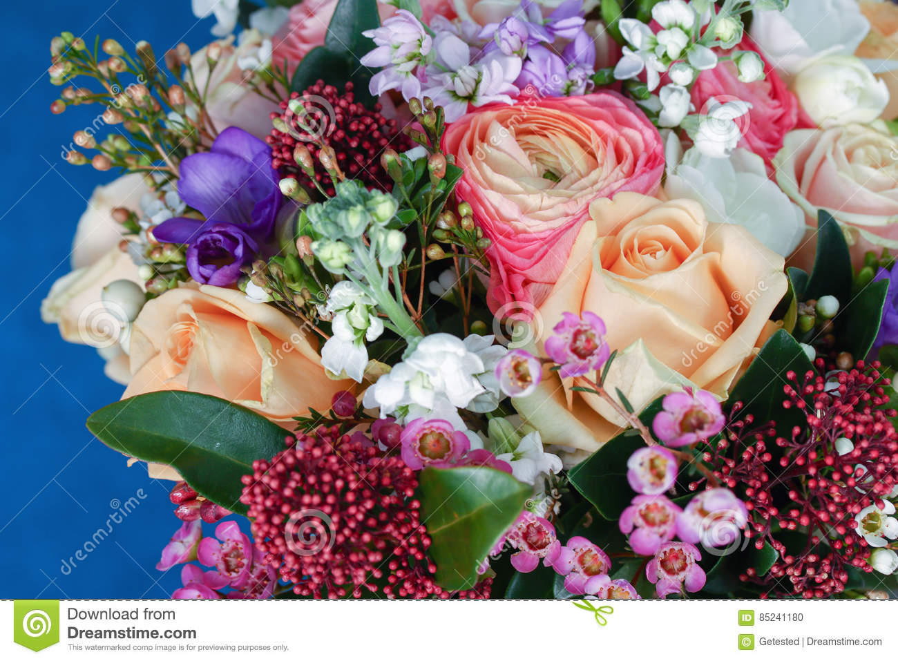 Huge bouquet of roses stock photo. Image of carnations - 85241180