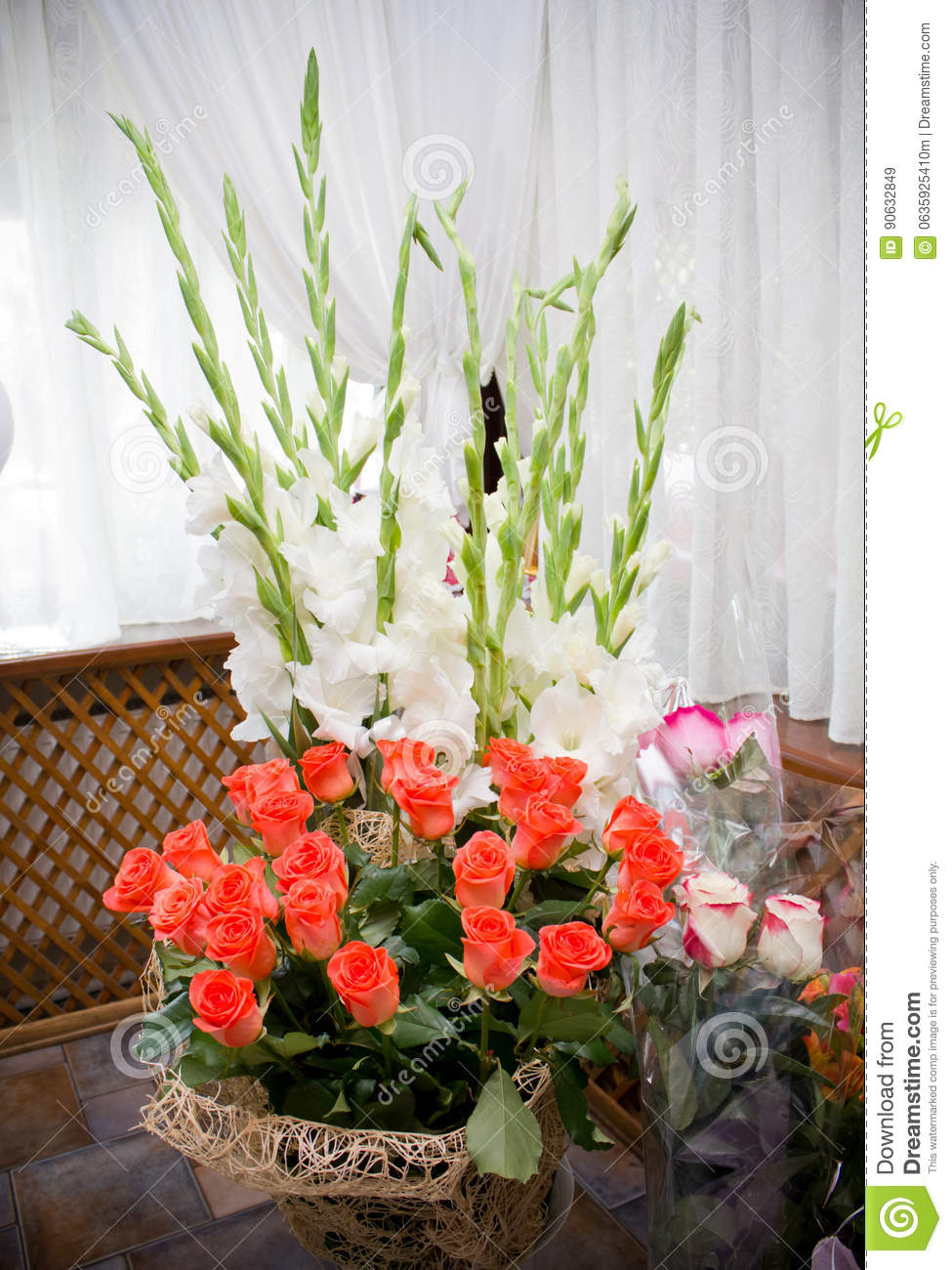 Huge Bouquets Of Flowers Stock Photo - Image: 90632849