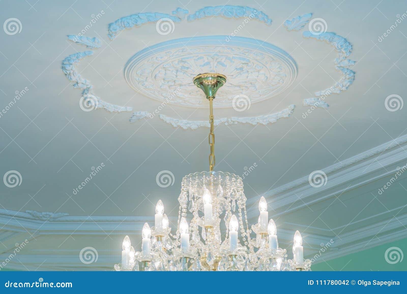 Huge chandelier closeup