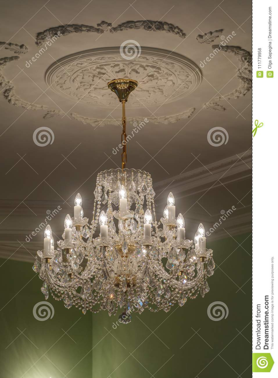 Huge chandelier closeup