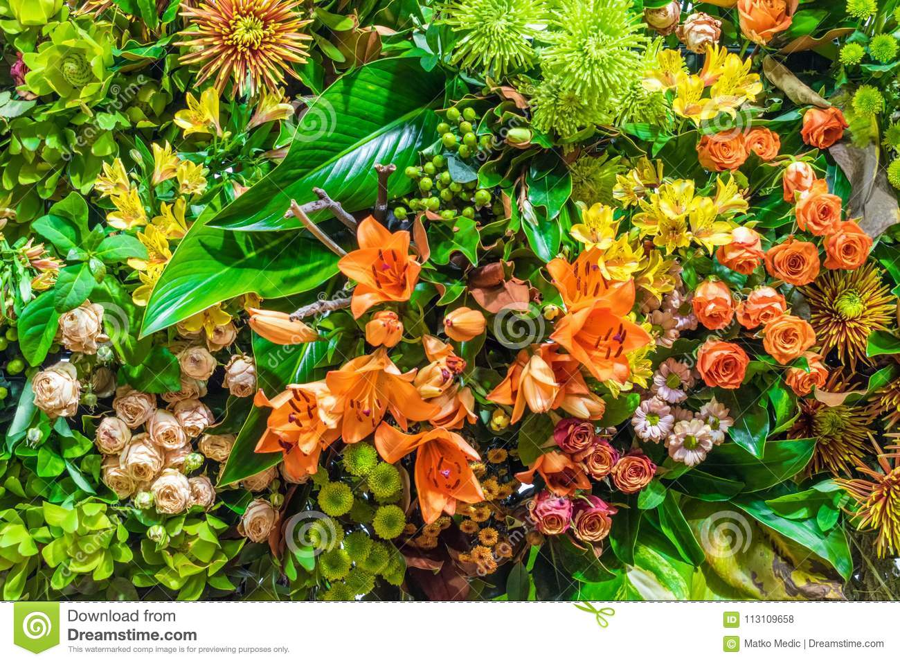Orange and yellow flower arrangement stock photo image of fresh download comp mightylinksfo