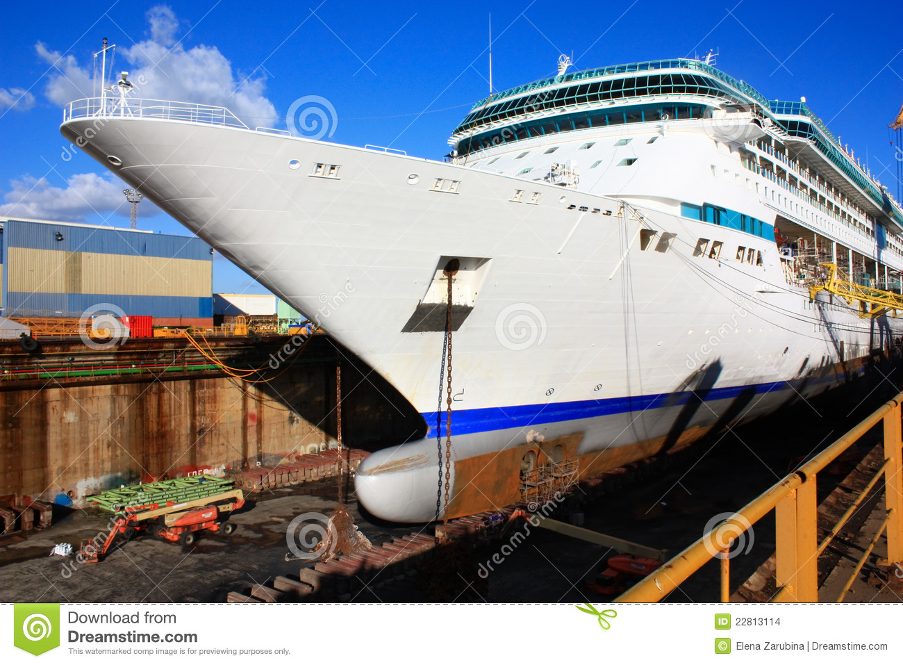 Huge Cruise Ship At Dry Dock Stock Images  Image 22813114