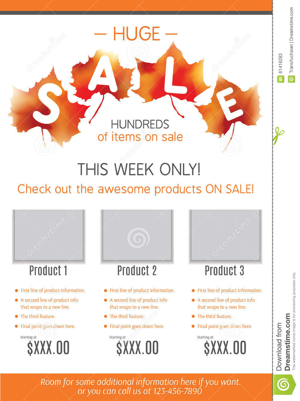 free fall flyers templates