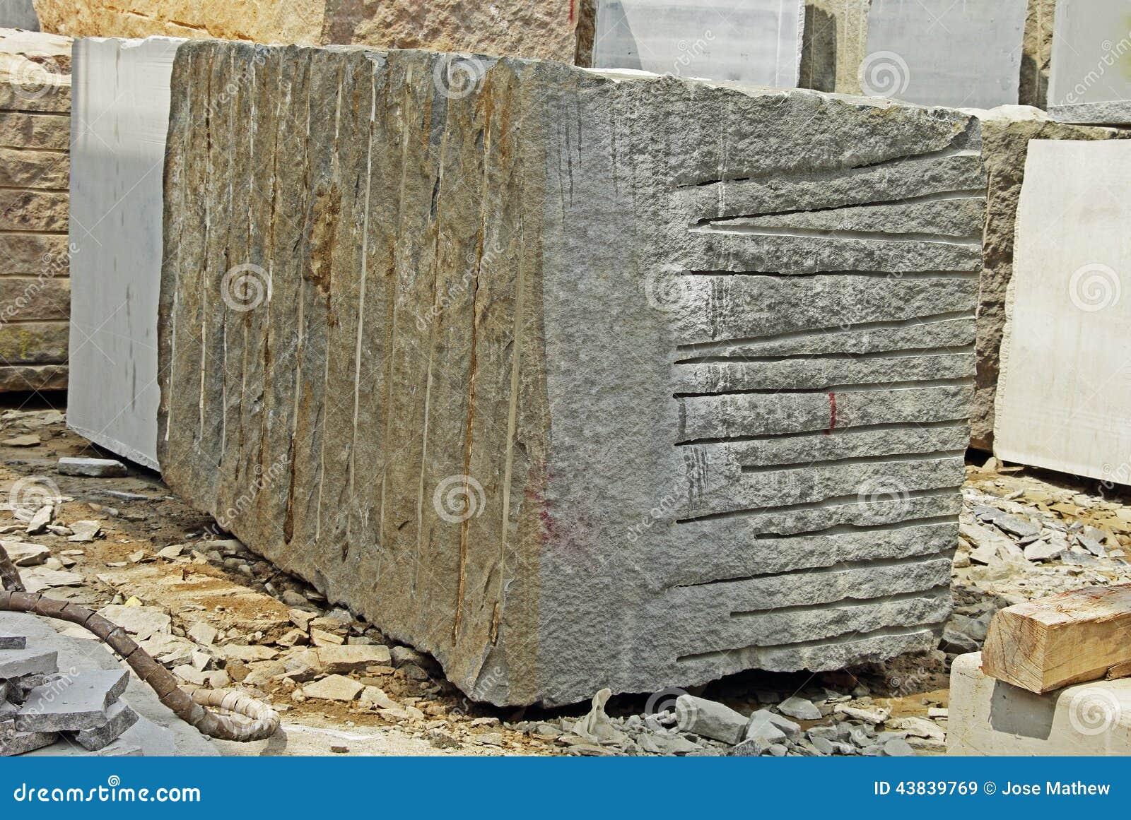 Huge Granite Block Stock Image Image Of Break Mining