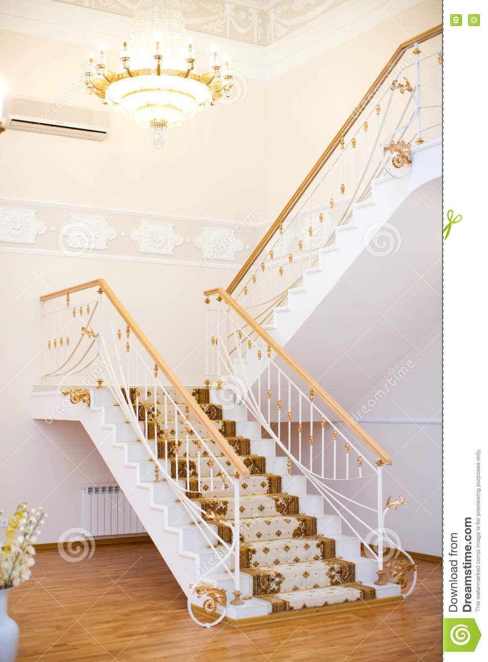 Huge hall with stairs