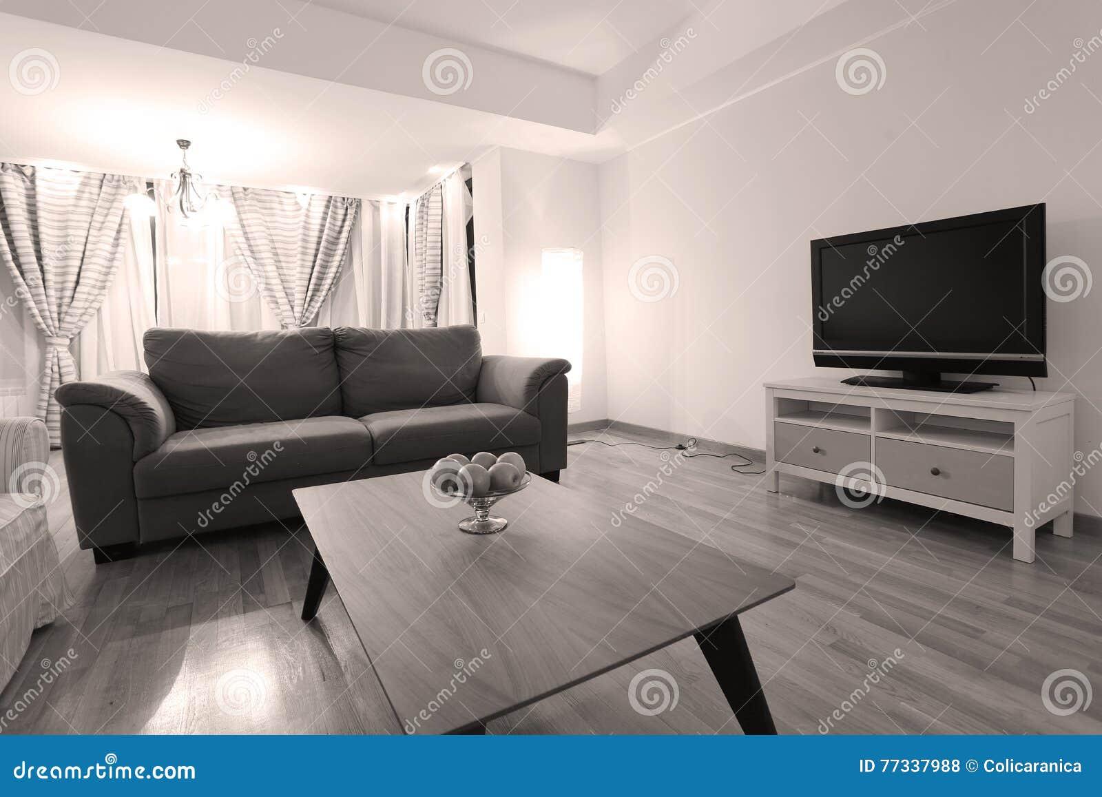 Huge Livingroom Stock Photo Image Of Lamps Armchair 77337988