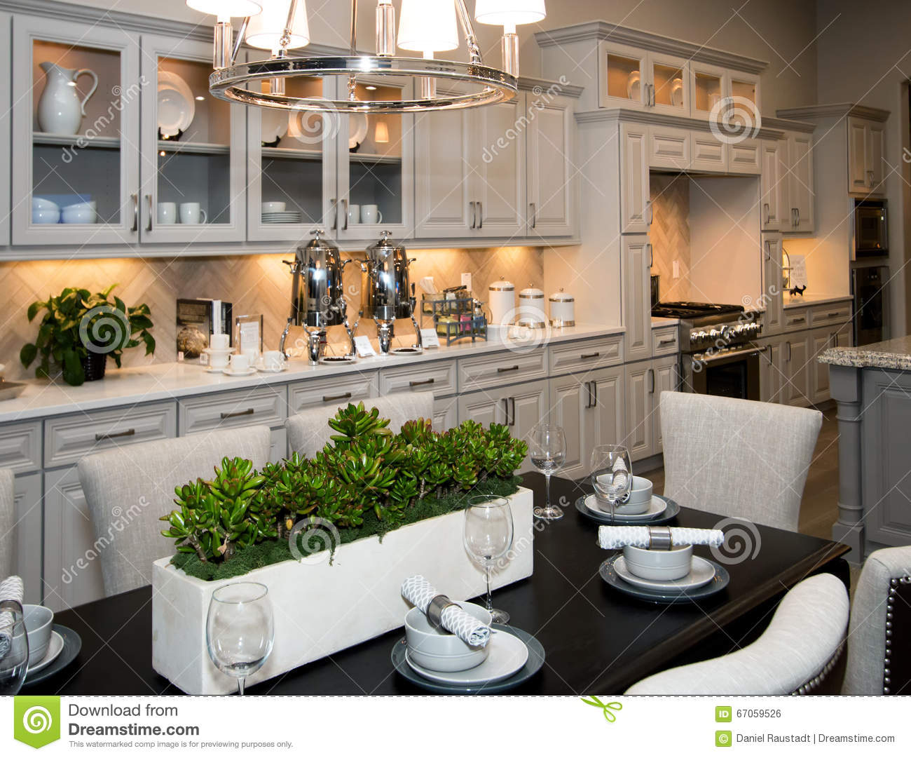Huge new kitchen and dining room stock photo image 67059526 for Kitchen room model
