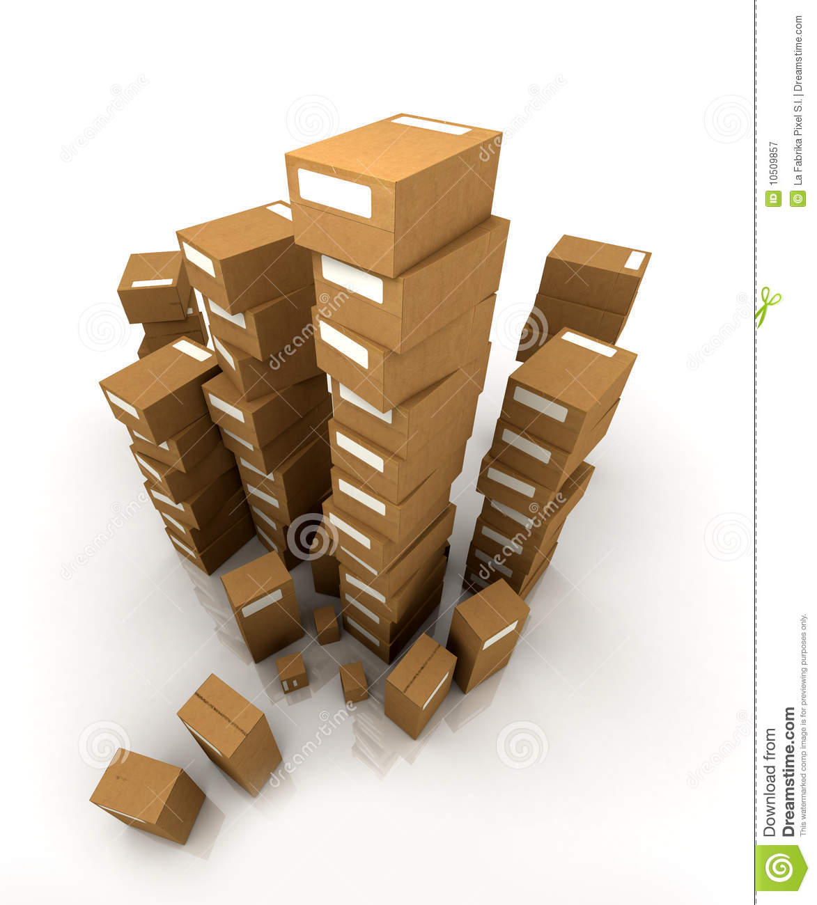 Huge pile of cardboard boxes royalty free stock