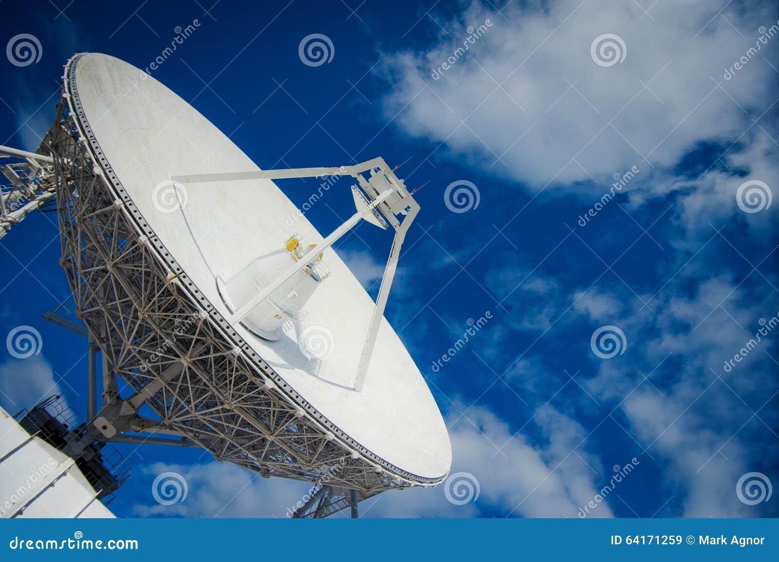 Huge Radio Antenna With Big Diameter Editorial Stock Image