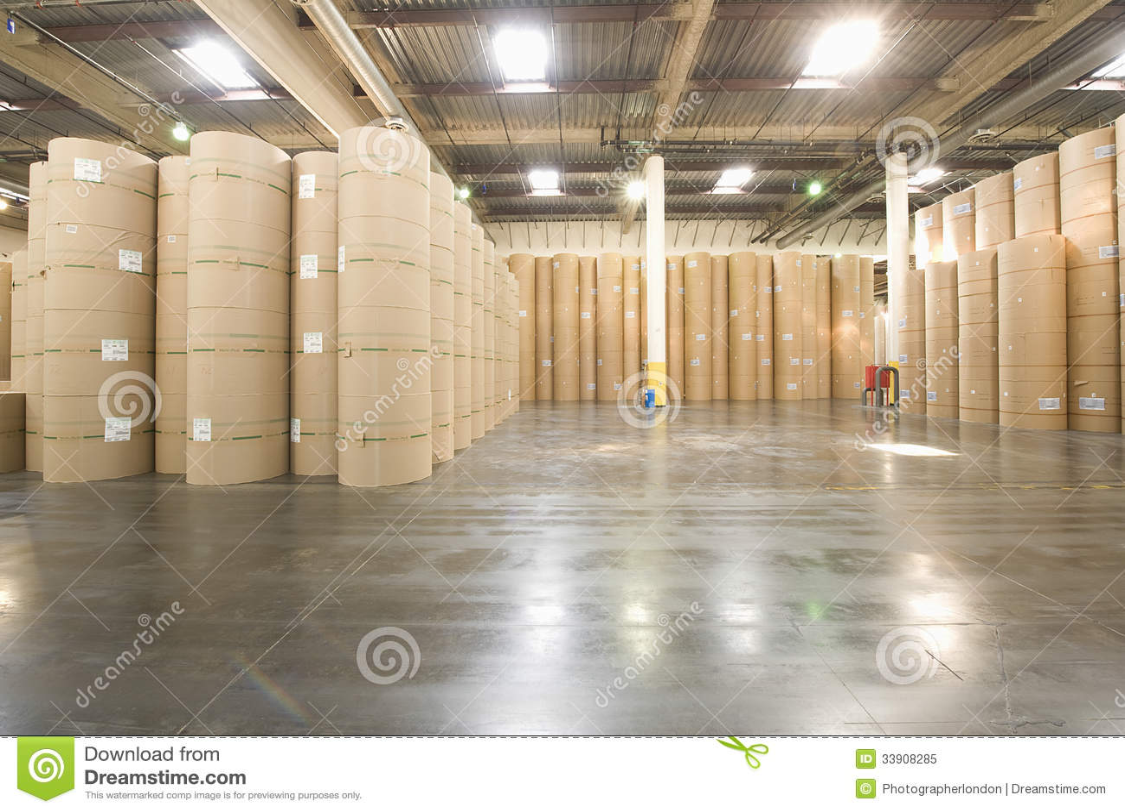 Huge Rolls Of Paper In Newspaper Factory Royalty Free Stock Photo  Image: 33908285 - Factory Floor Plans