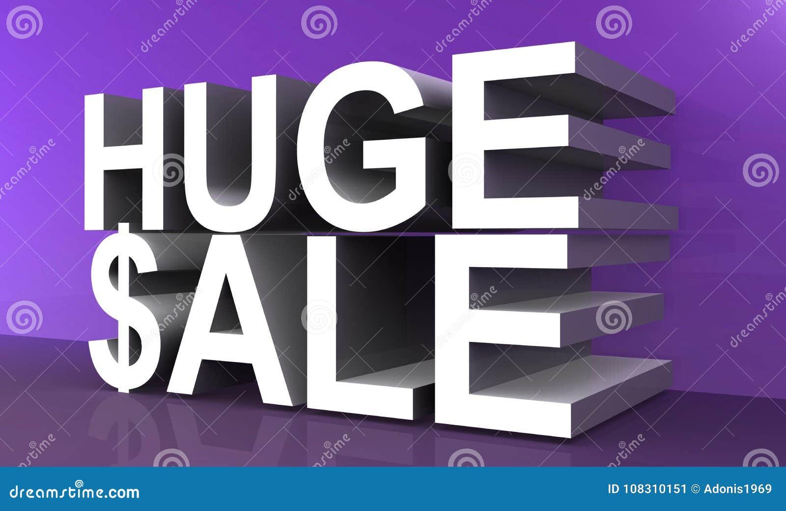 Huge sale text