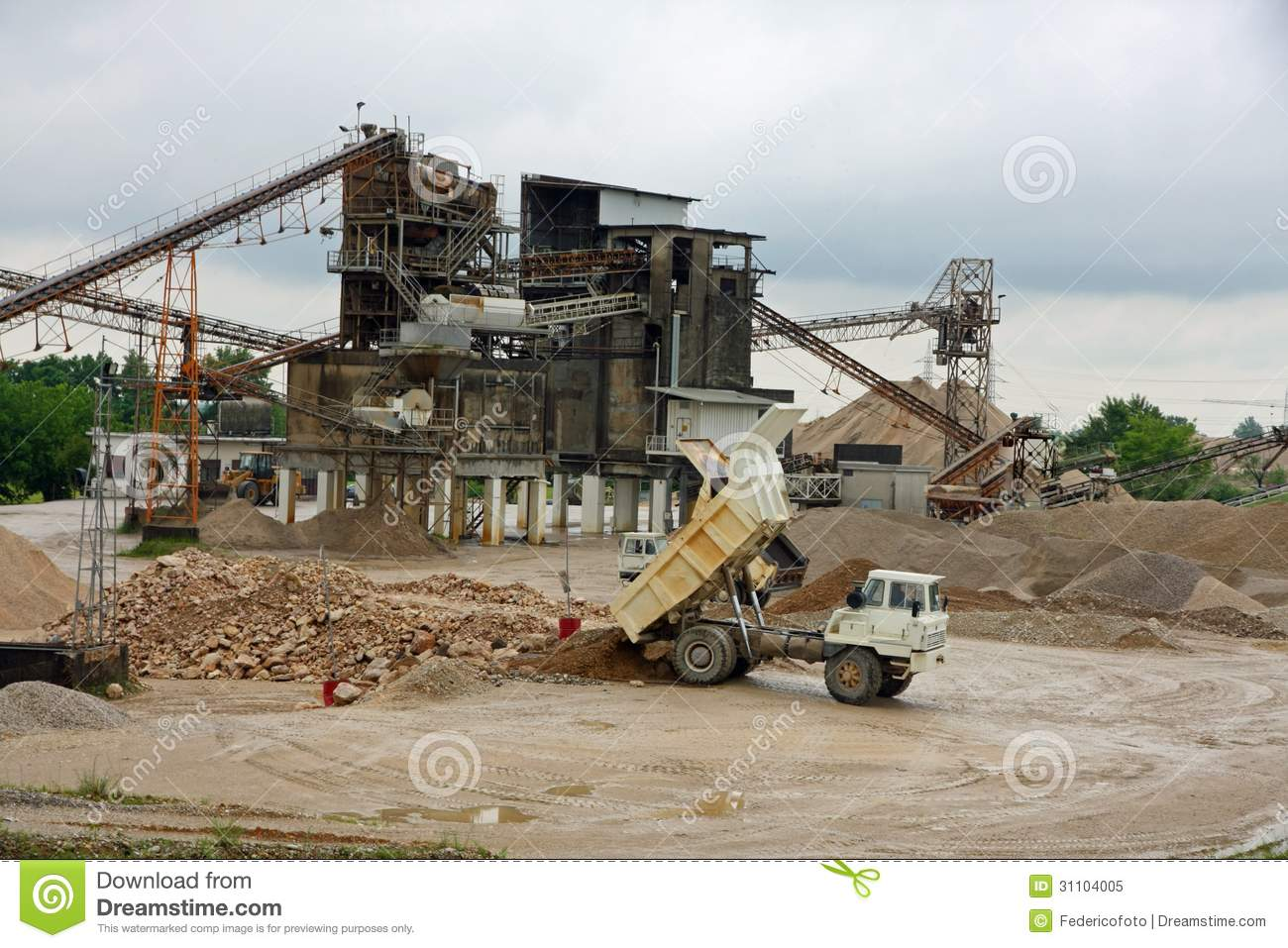 Huge Truck In The Site Royalty Free Stock Photo Image 31104005