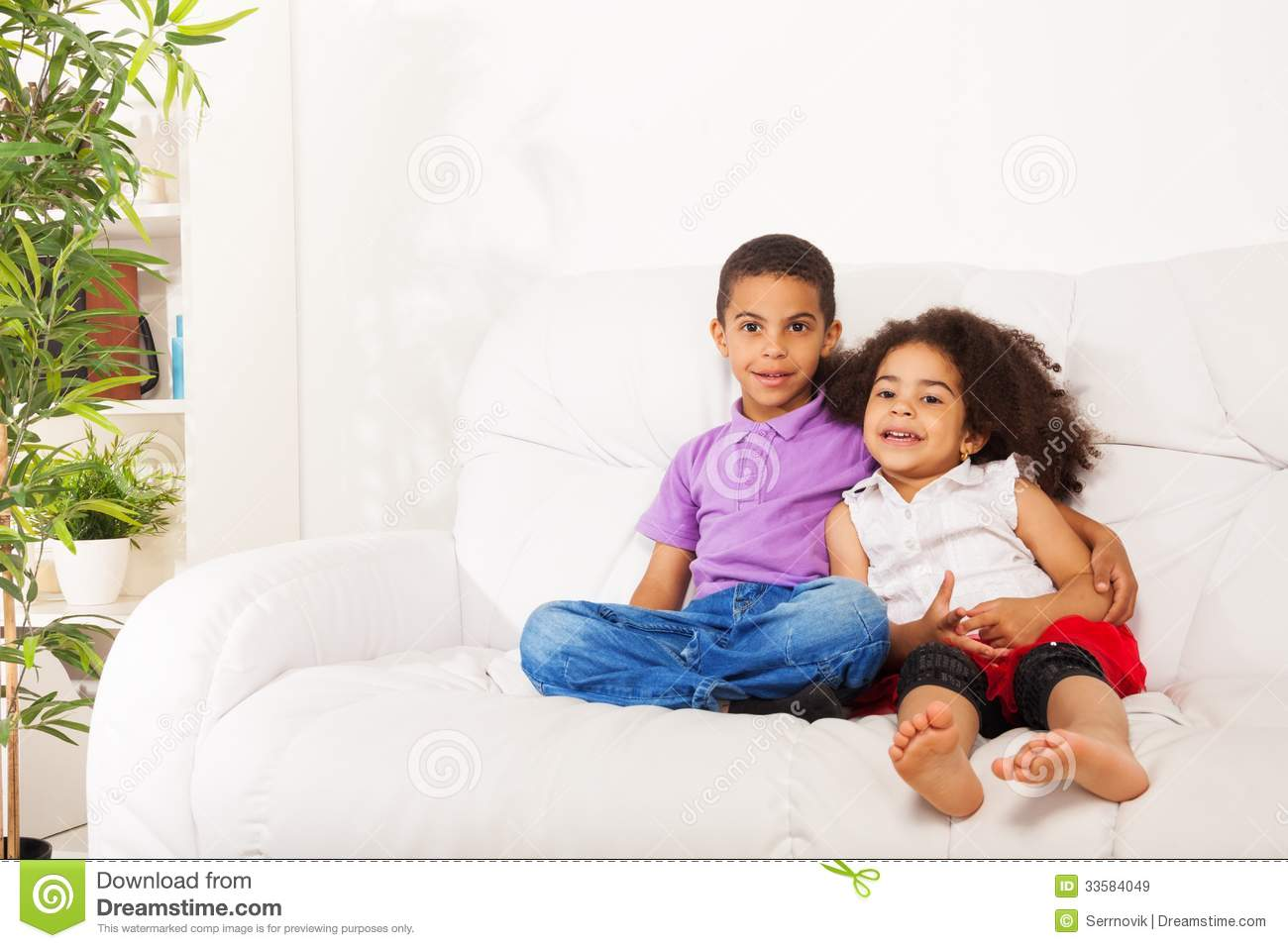 hugging brother and sister stock image image of brother 33584049
