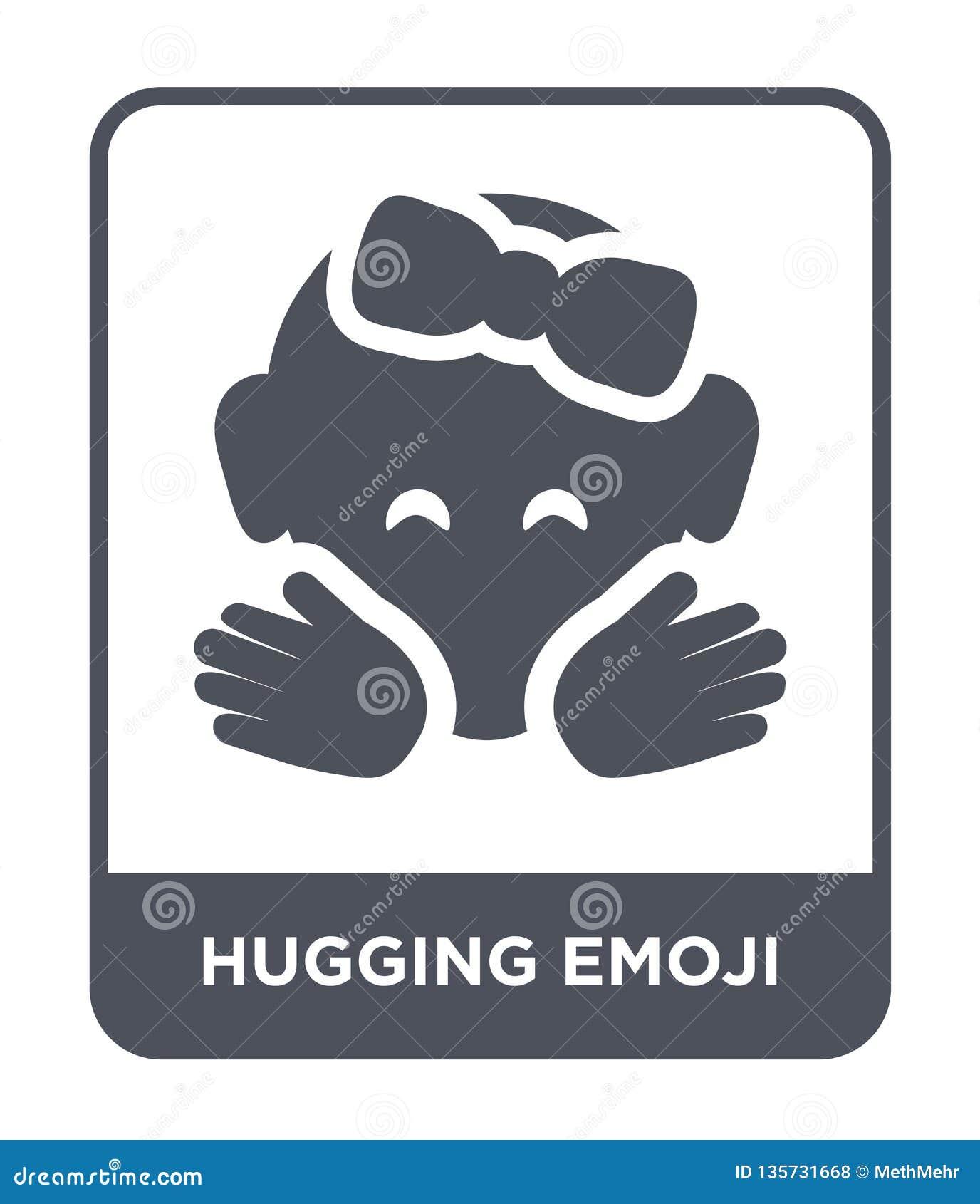 Hugging Emoji Icon In Trendy Design Style  Hugging Emoji