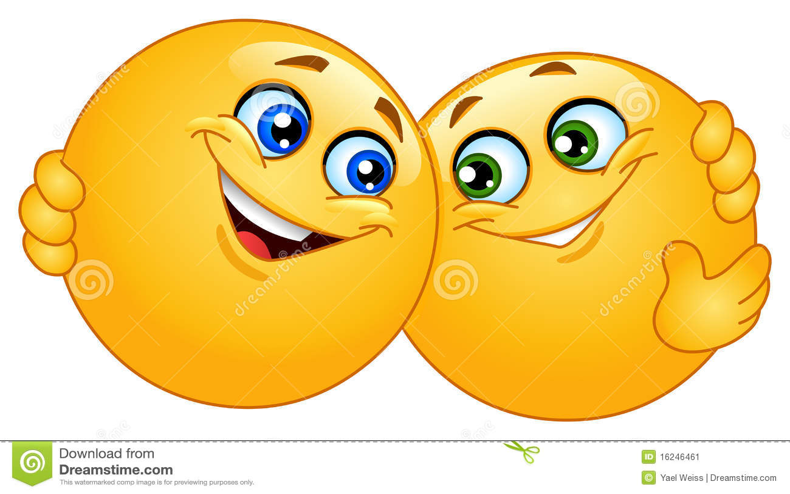 Smileys Smiley Faces And Emoticon: Hugging Emoticons Stock Vector. Image Of Cuddle, Emoticon