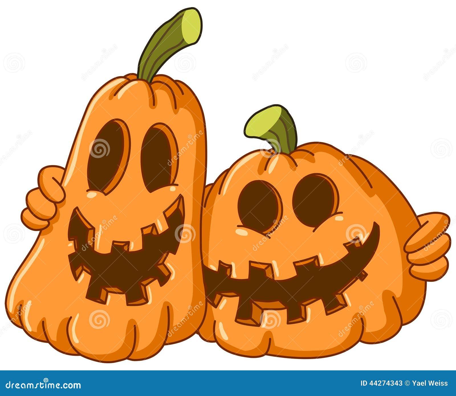 Hugging pumpkins stock vector image 44274343 for Halloween pumpkin clipart