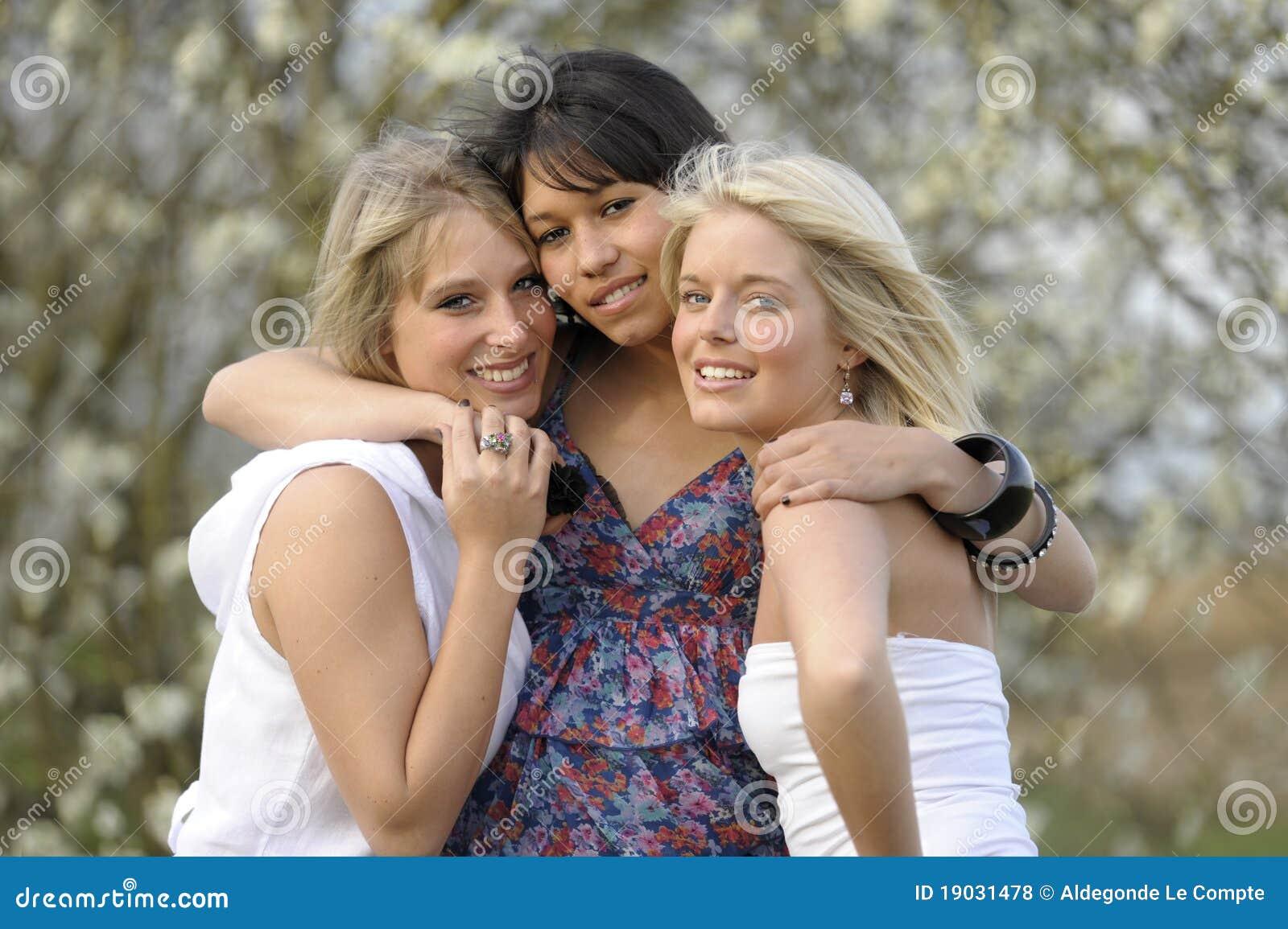 Sexy woman friends