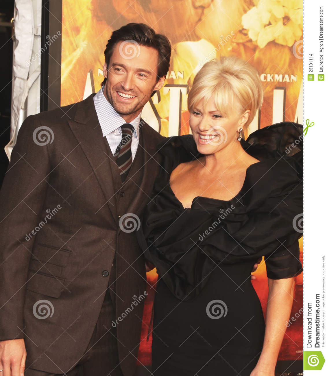 Hugh Jackman And Deborra Lee Furness Jackman Editorial Stock Image