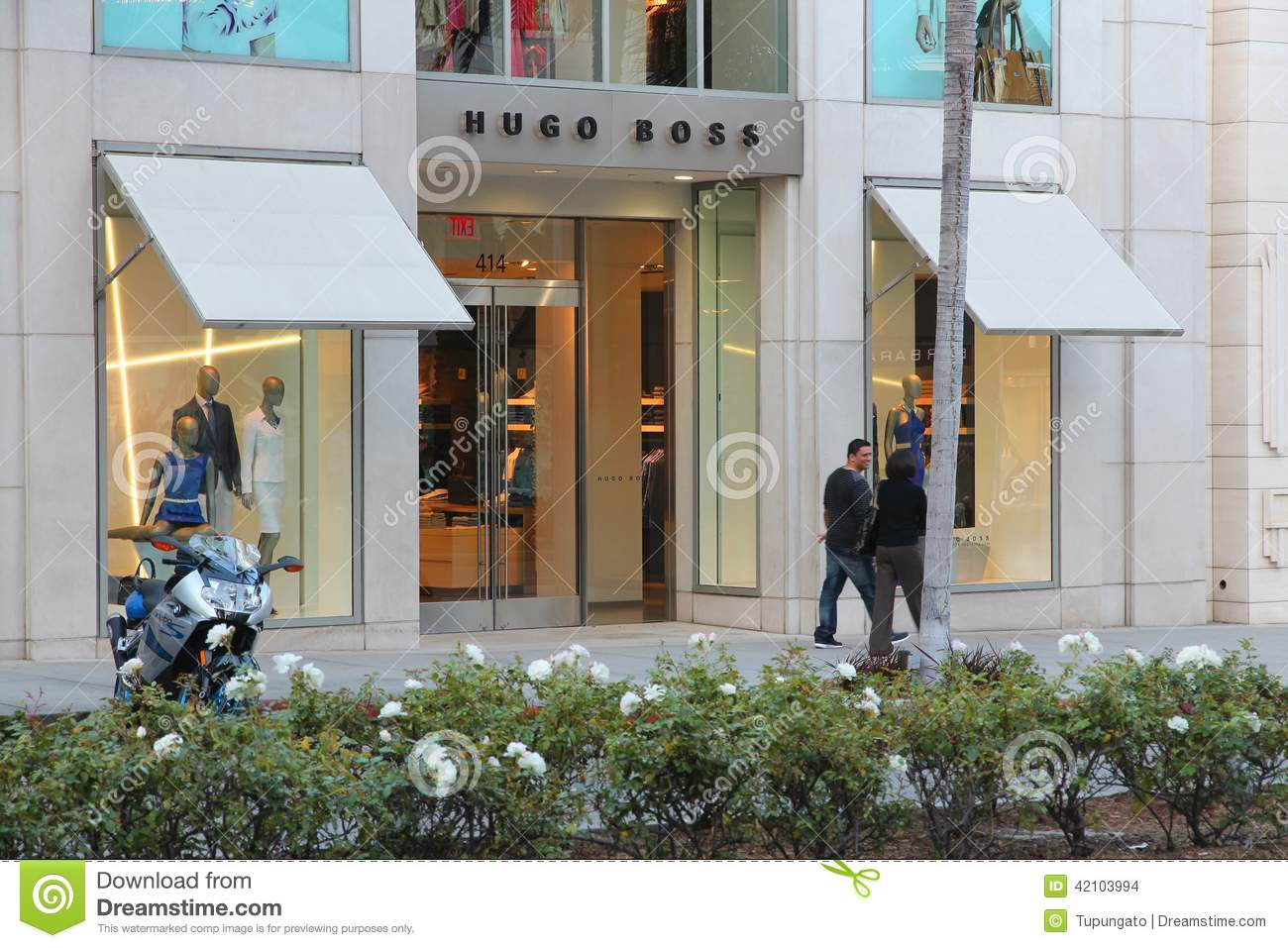 Hugo Boss Beverly Hills Editorial Stock Image Image