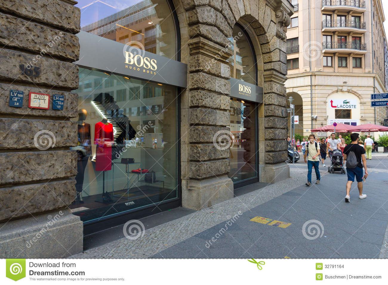 hugo boss boutique at friedrichstrasse editorial stock image image 32791164