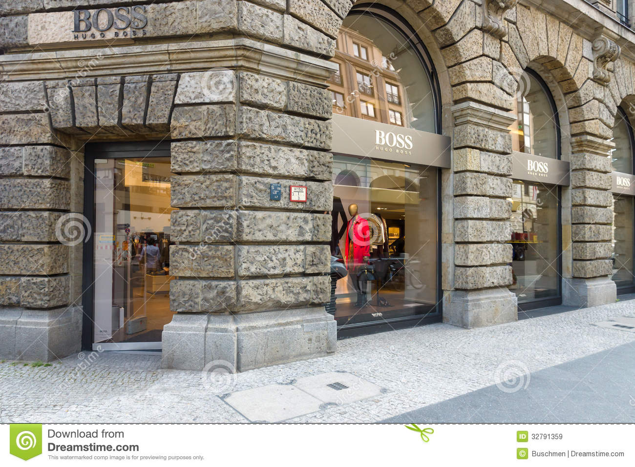 Hugo Boss Boutique At Friedrichstrasse Editorial Stock Image Image 32791359