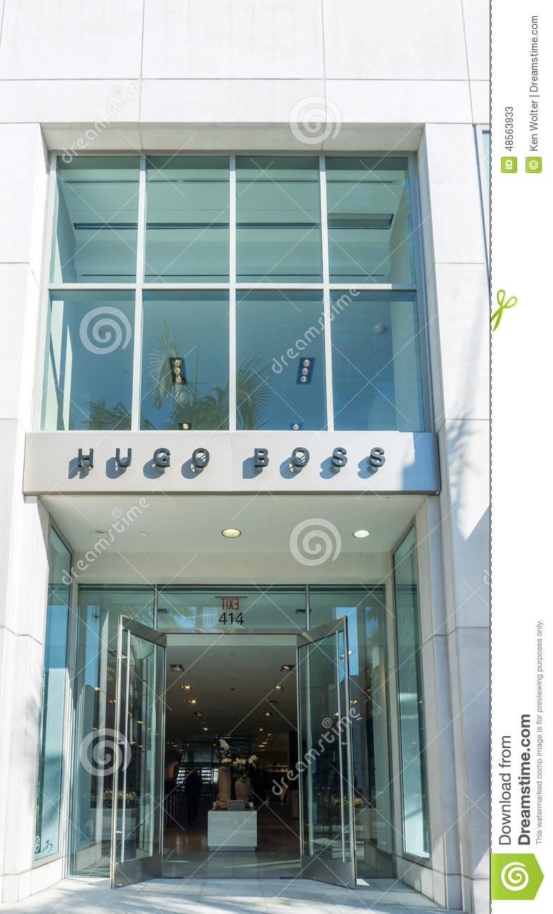 Hugo Boss Retail Store Exterior Editorial Stock Photo Image 48563933