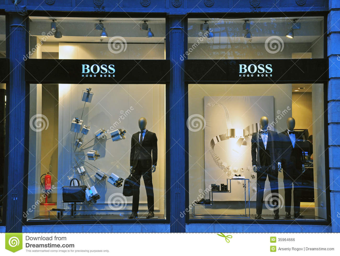 hugo boss store in lisbon editorial photo image 35964666. Black Bedroom Furniture Sets. Home Design Ideas