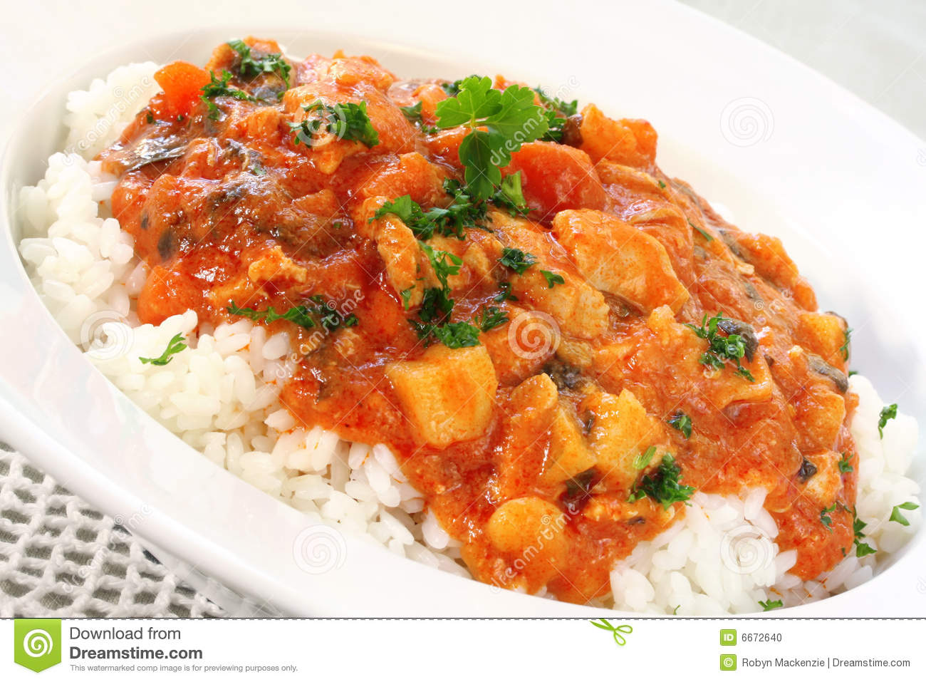 Huhn-Curry