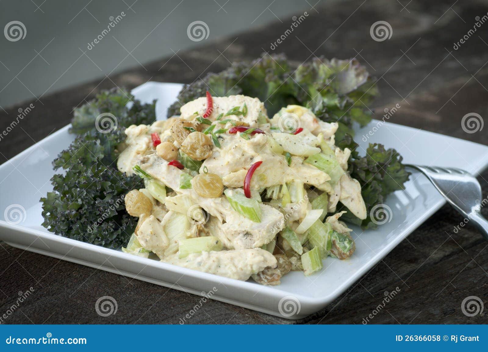 Huhn-Curry-Salat
