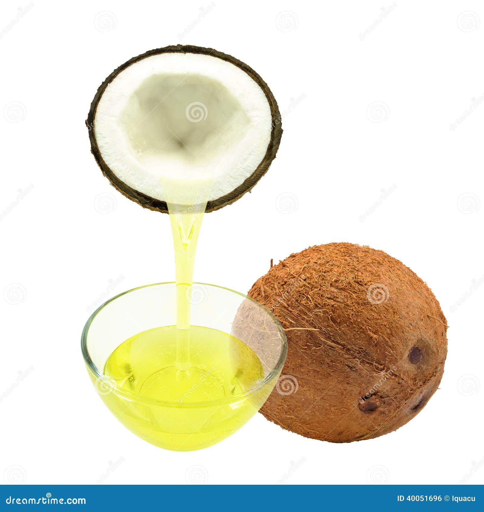 huile de noix de coco jaune