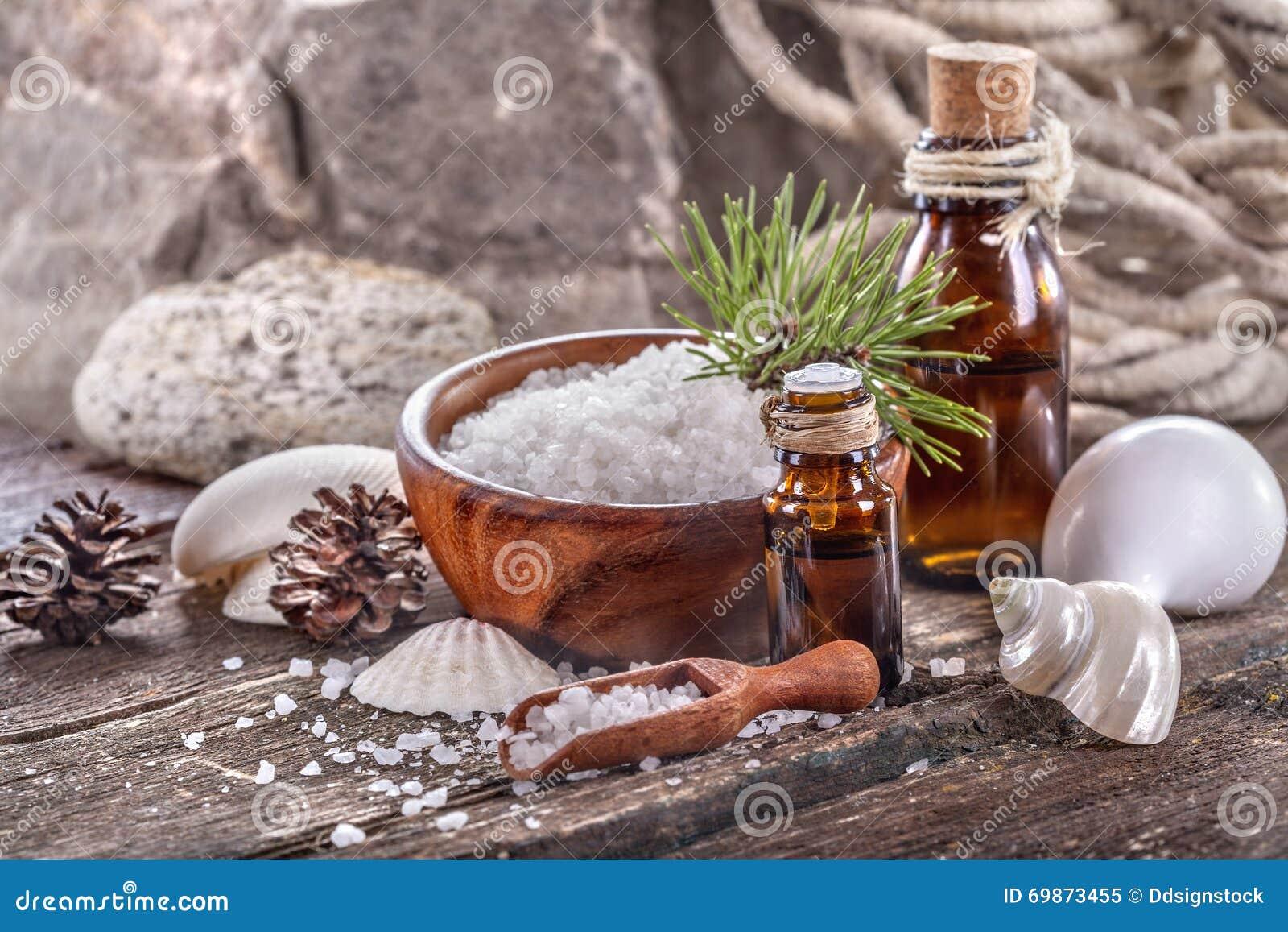 Huiles essentielles et sel de bain