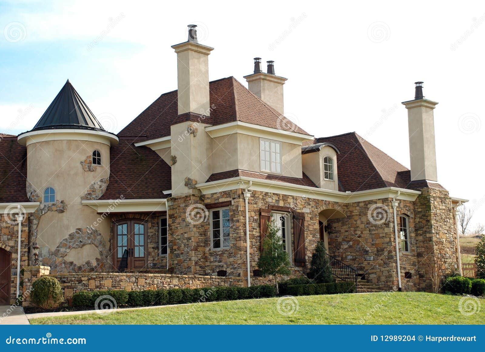 Huis van de luxe stock foto afbeelding bestaande uit ontwerp