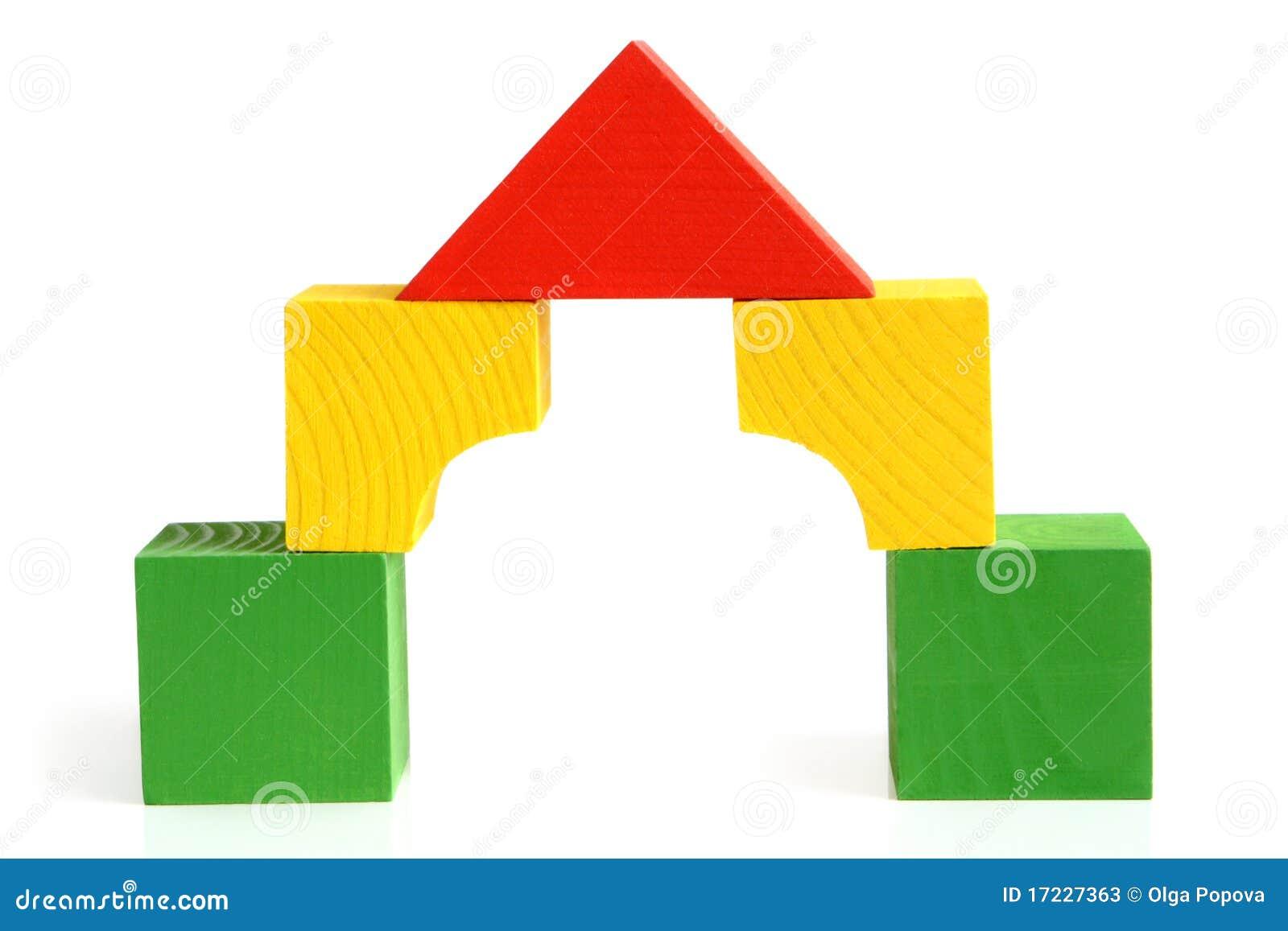 Wood Block Clip Art ~ Huis dat van de houten bouwstenen kinderen wordt