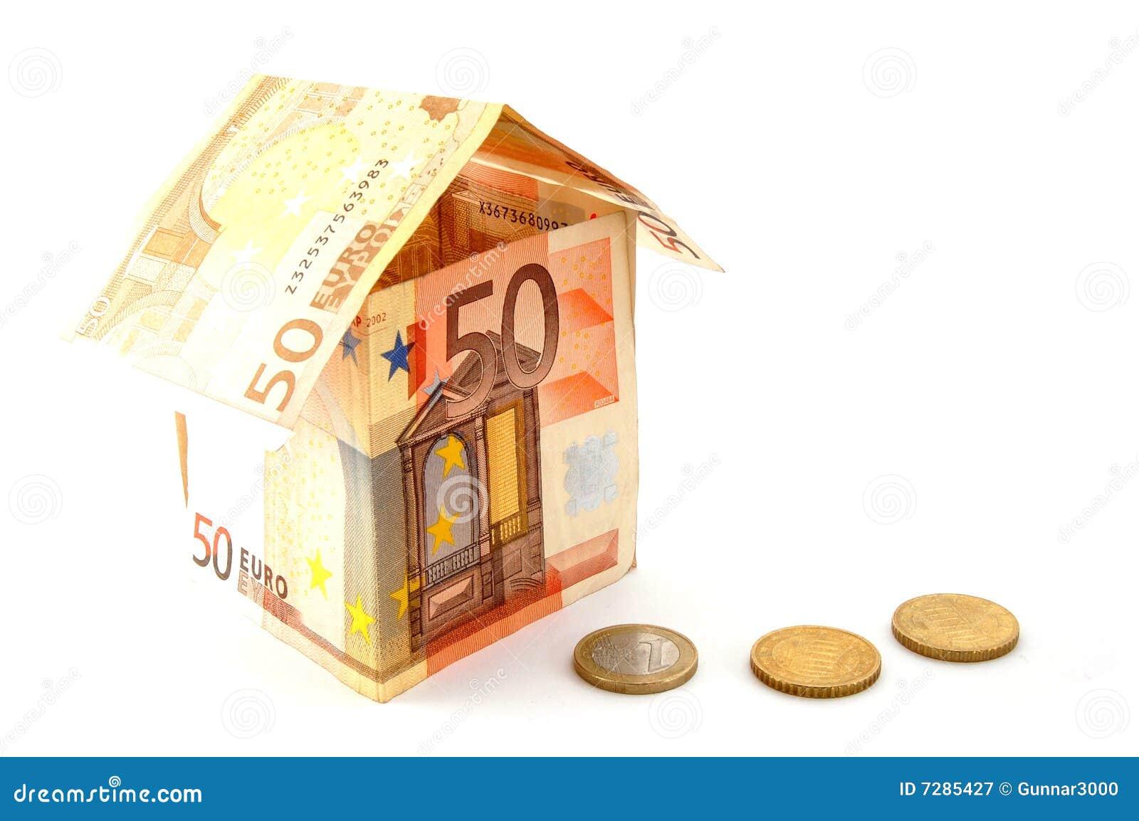 Huis dat van geld wordt gemaakt