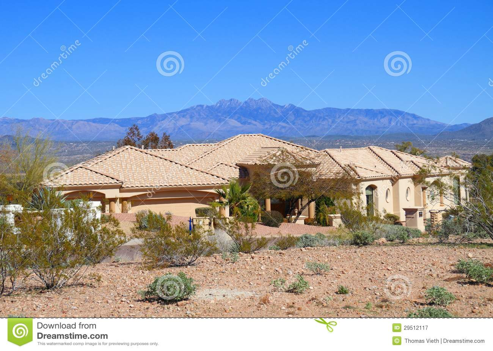 Huis in de woestijn van Arizona