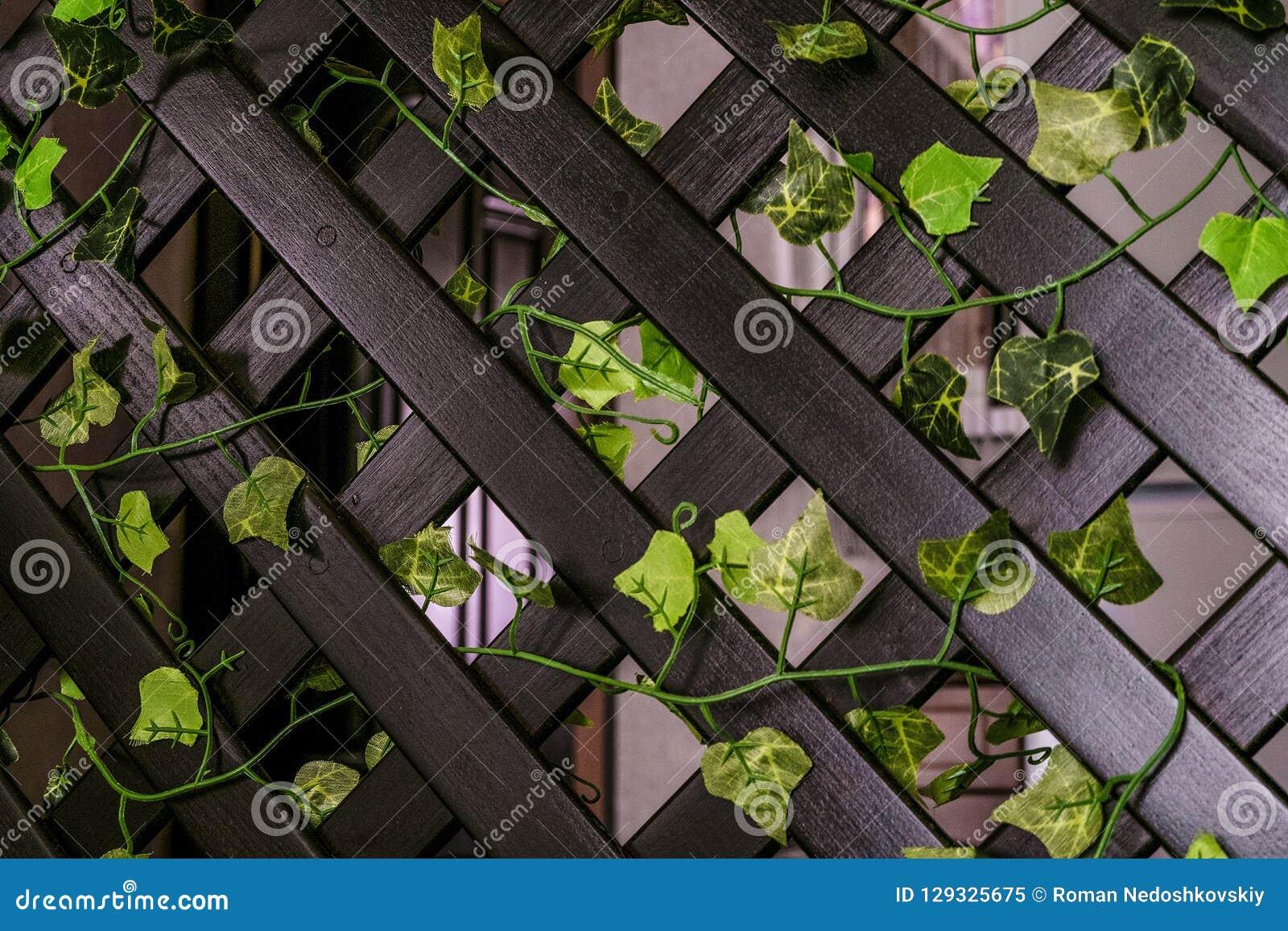 Huis het houten decoratieve rooster schermen