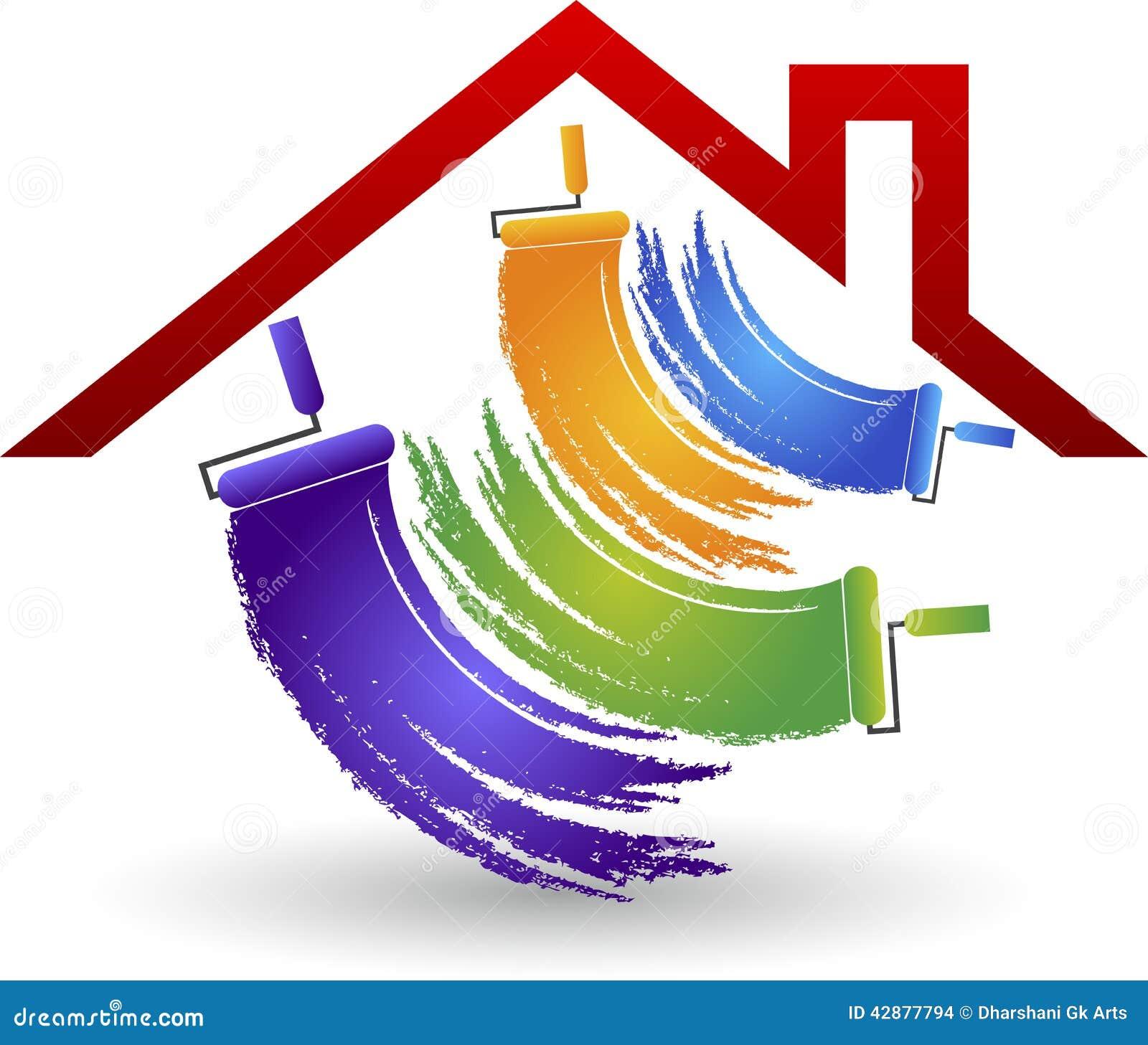 Huis het schilderen embleem