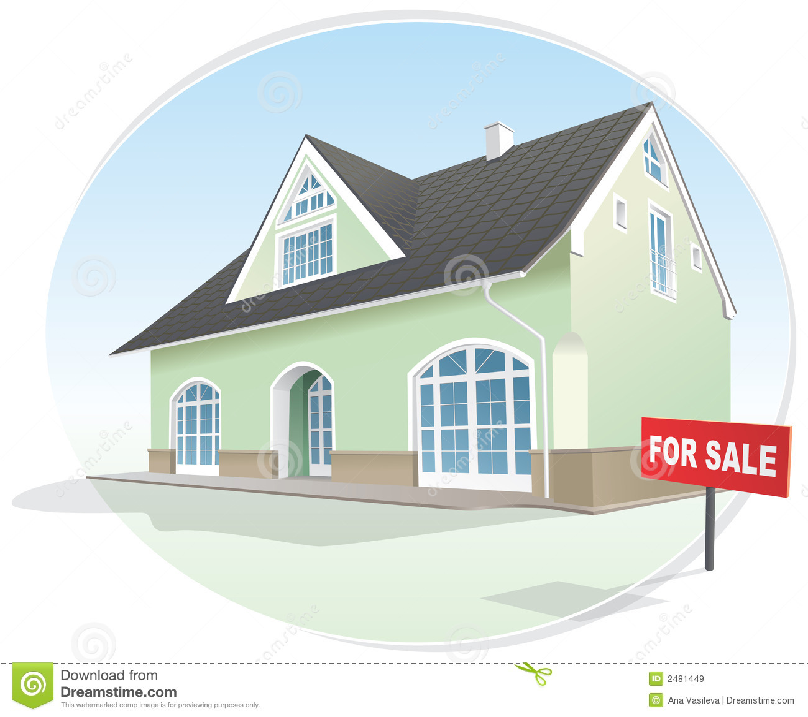 Huis makelaardij voor verkoop vector vector illustratie for Huis aantrekkelijk maken voor verkoop