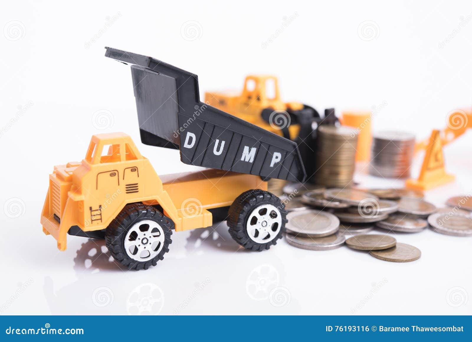 Huis met het geld van het stapelmuntstuk en commerciële bouwnijverheid