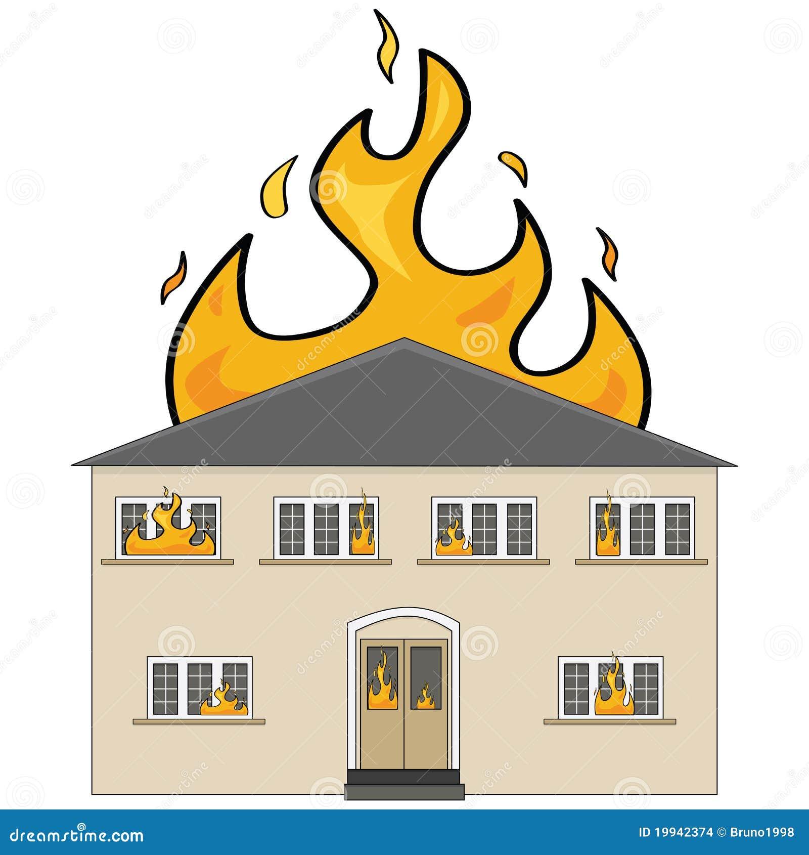 Huis op brand vector illustratie illustratie bestaande for Maison brand
