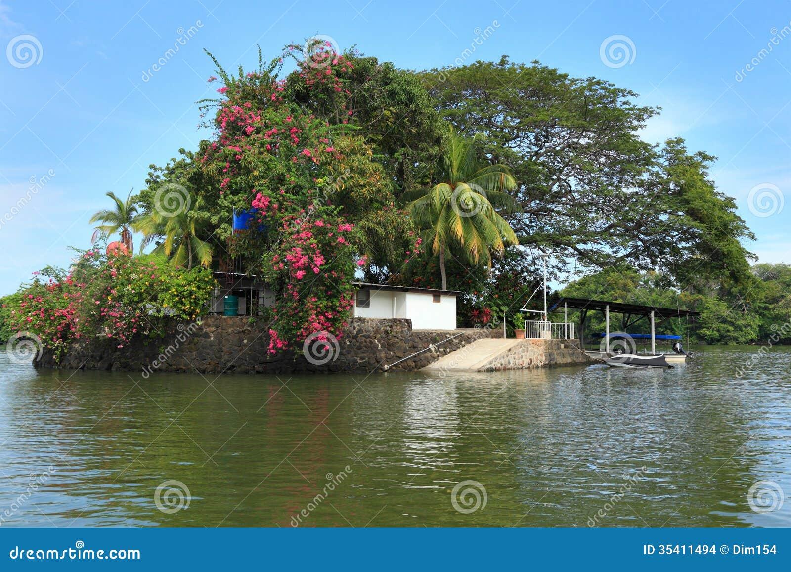 Huis op eiland