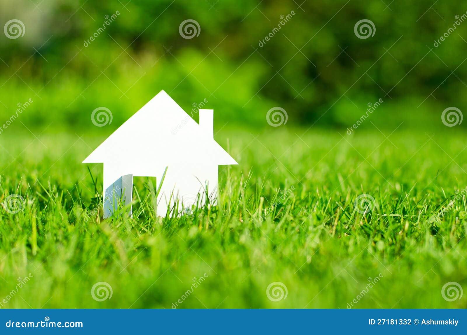 Huis op groen gebied