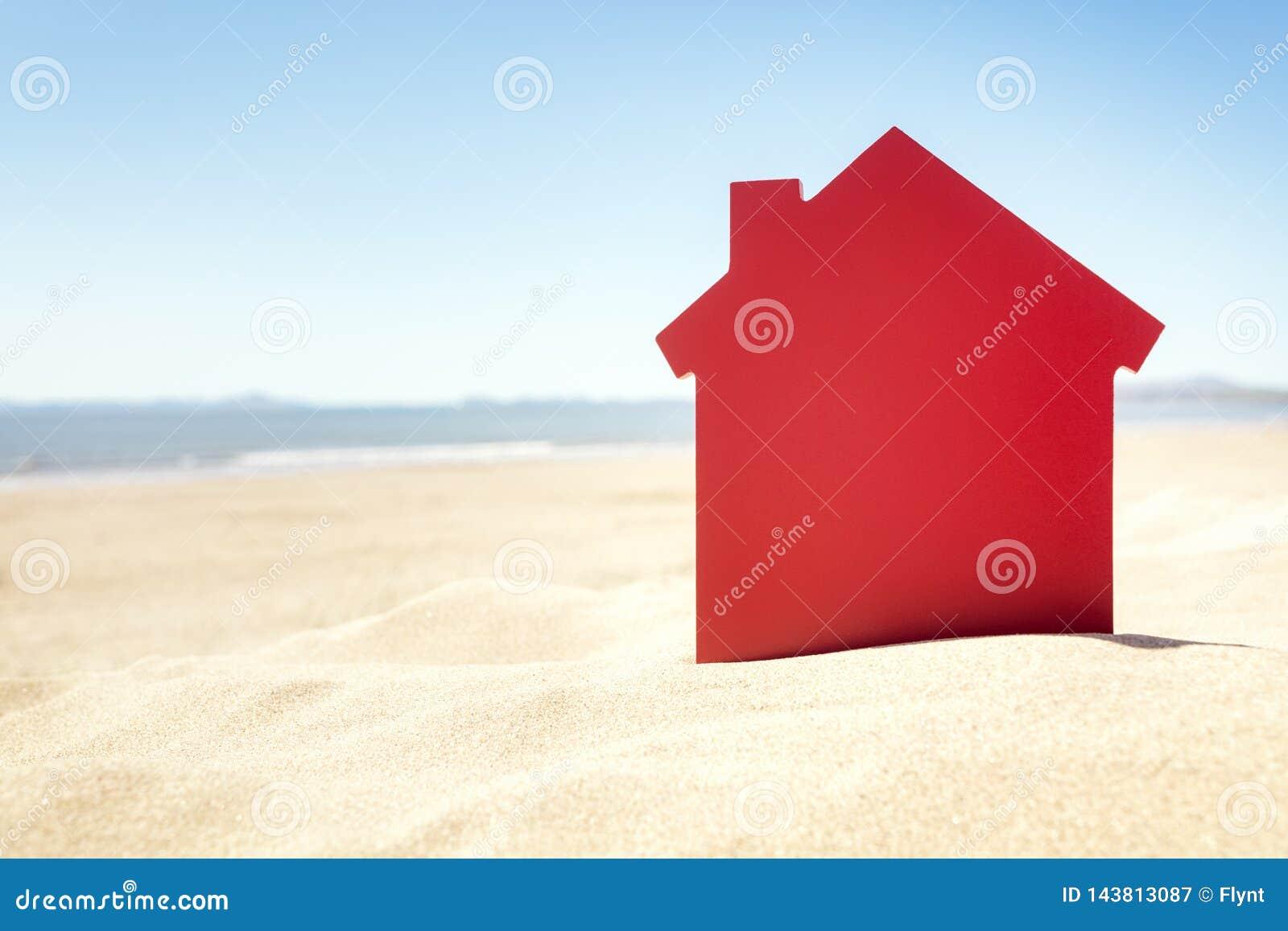 Huis op het onroerende goederen zandstrand of vakantiehuur