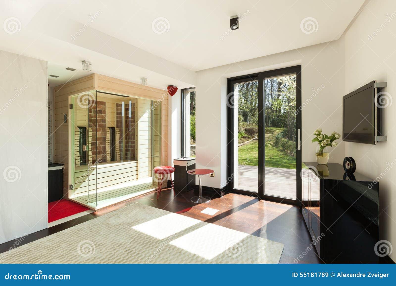 Sauna In Huis : Huis ruimte met sauna stock afbeelding afbeelding bestaande uit