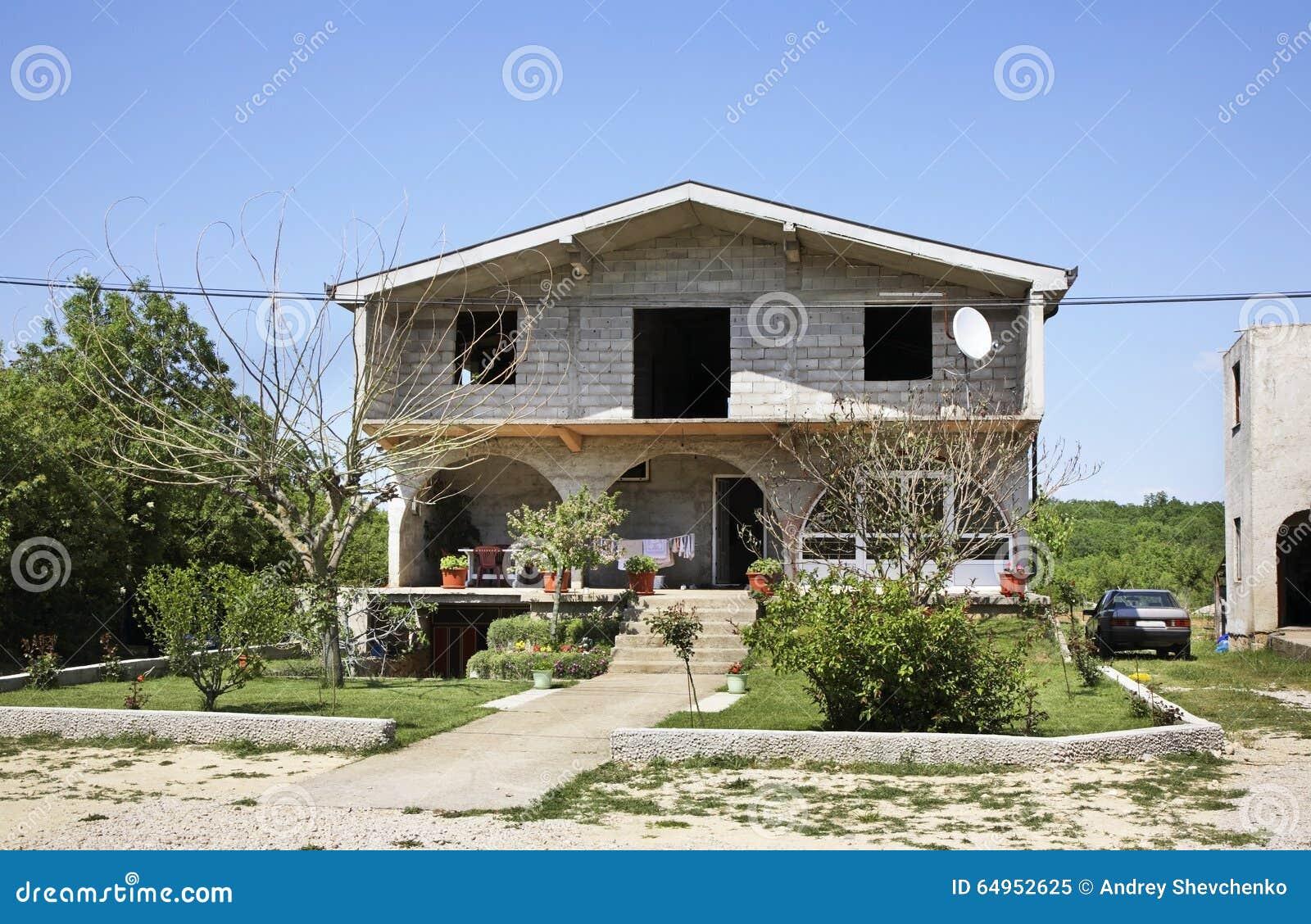 Huis in Studenci In de schaduw gestelde hulpkaart met belangrijke stedelijke gebieden