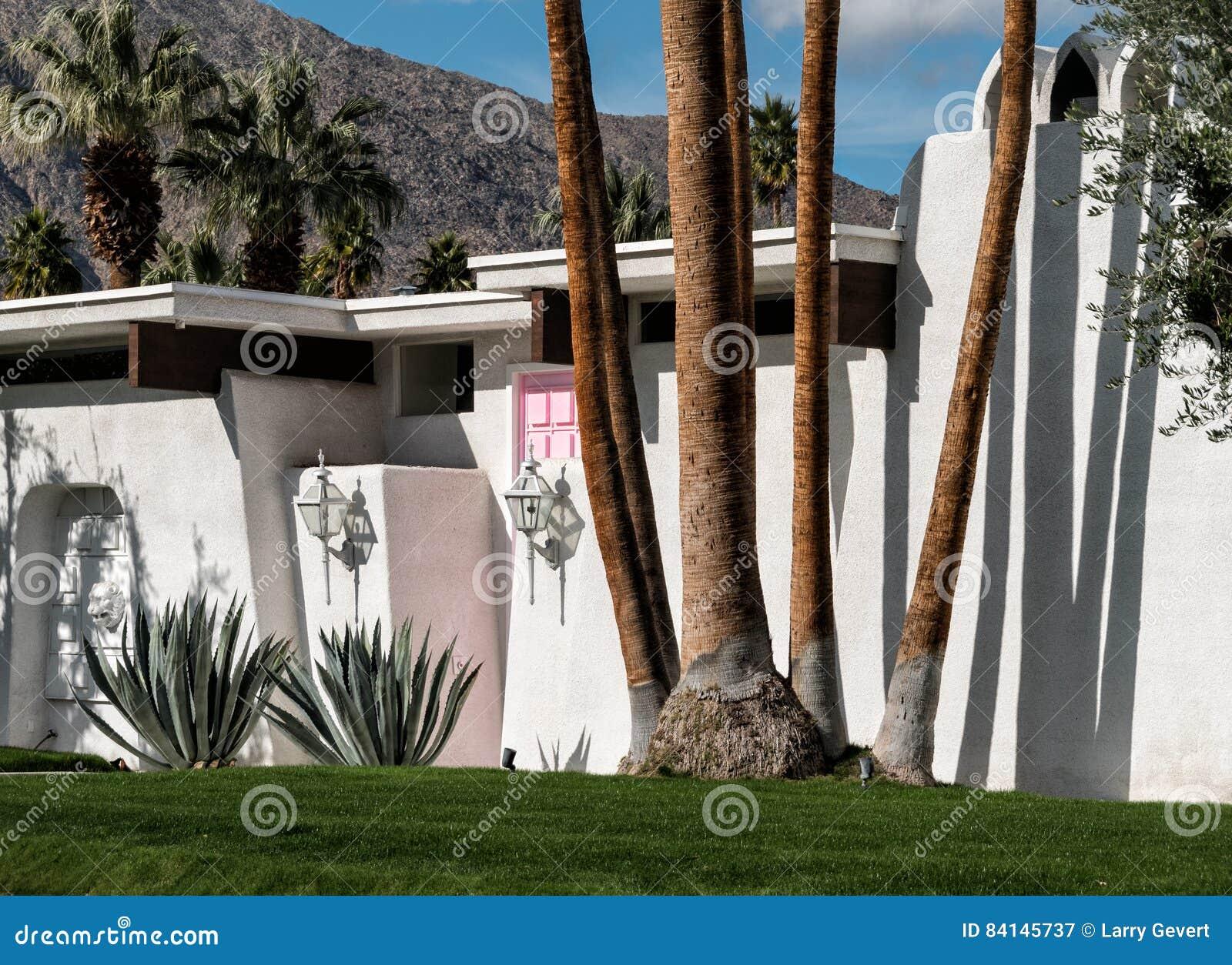 Huis van de Palm Springs het Roze Deur
