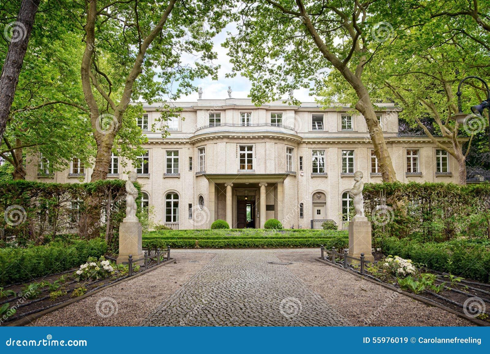 Huis van de Wannsee-conferentie in Berlijn, Duitsland