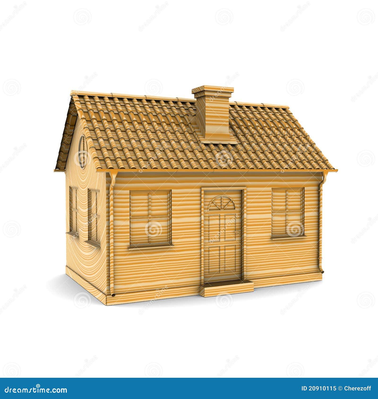 Huis van hout royalty vrije stock foto afbeelding 20910115 for Hout huis